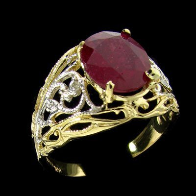 334: APP: $10.7k 14 kt. Yellow/White Gold, 2.16CT Ruby