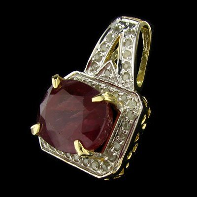 1694: APP: $56.9k 14 kt. Gold, 34.90CT Ruby and Diamond