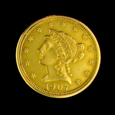 47: 1907 $2.5 US Coronet Gold Coin-Investment Potential