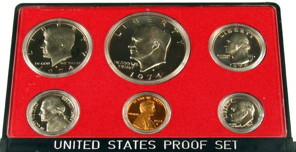 324: 1974 US Proof Set  Coin - Investment Potential
