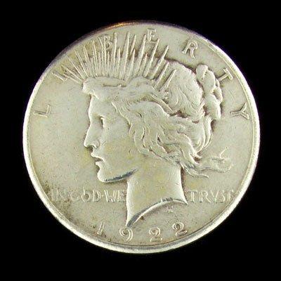 334: 1922 Peace Type Silver Dollar Coin - Investment Po