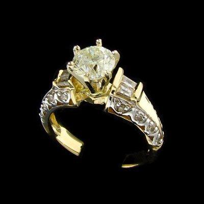 2305: APP: $7.8k 14 kt. Gold, 1.05CT Diamond and Diamon