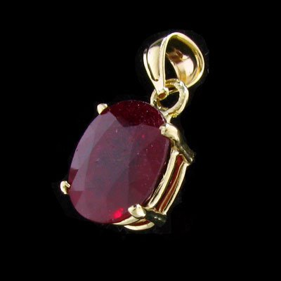 2309: APP: $20.2k 14 kt. Gold, 5.20CT Ruby and Diamond