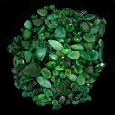 2325: APP: $10.4k 52.17CT Mixed Cuts Emerald Parcel - P
