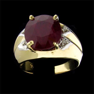 2329: APP: $33.2k 14 kt. Gold, 6.90CT Ruby and 0.04CT D