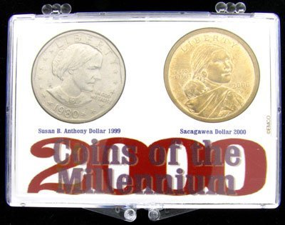 2335: 2000 Sacagawea Dollar &  Susan B. Anthony Dollar