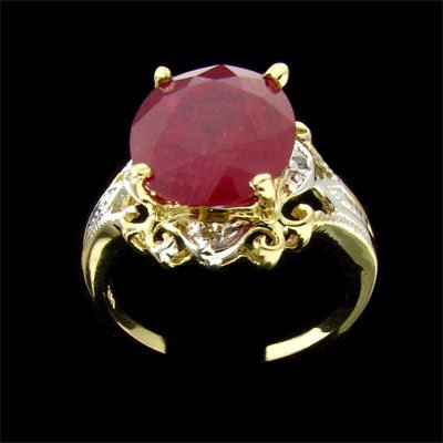 2339: APP: $45.6k 14 kt. Gold, 7.70CT Ruby and 0.02CT D