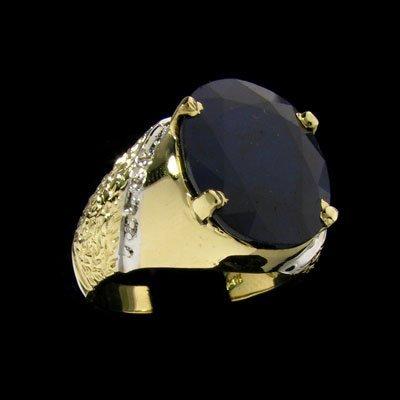 2403: APP: $11k 14 kt. Gold, 11.71CT Sapphire and Diamo