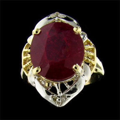 2687: APP: $44.2k 14 kt. Gold, 7.14CT Ruby and 0.03CT D