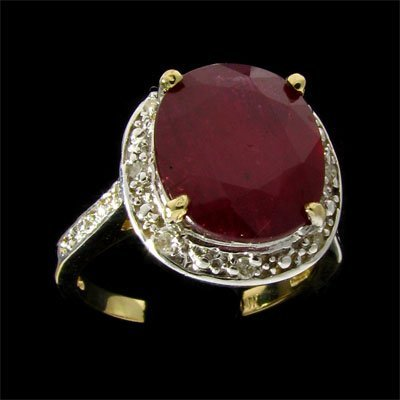 113: APP: $10.8k 14 kt. Gold, 7.10CT Ruby and Diamond R