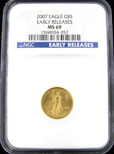 129: 2007 $5 US Eagle Gold Coin - Potential Investment