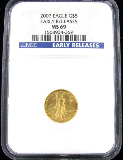 143: 2007 $5 US Eagle Gold Coin - Potential Investment