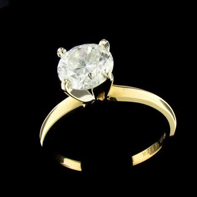 145: APP: $8.6k 14 kt. Gold, 1.31CT Diamond Ring