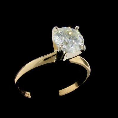 151: APP: $5.5k 14 kt. Gold, 1.14CT Diamond Ring