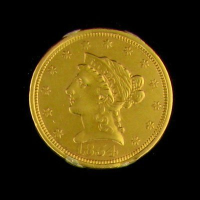 7: 1854 $2.5 US Liberty Gold Coin - Investment Potentia