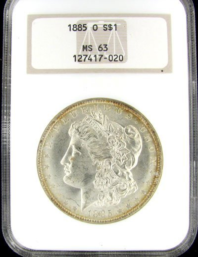 19: 1885-O US Morgan Silver Dollar Coin - Investment Po