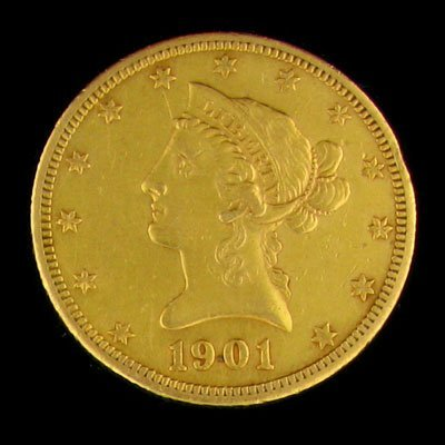 35: 1901-S $10 US Liberty Gold Coin - Investment Potent