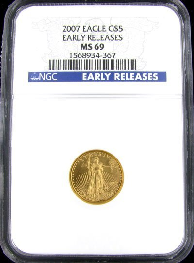 39: 2007 $5 US Eagle Gold Coin - Investment Potential
