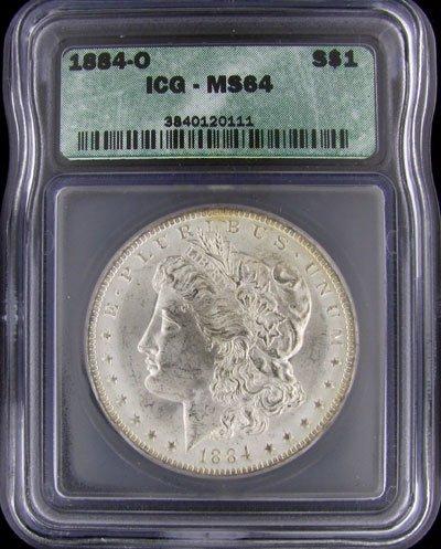 45: 1884-O US Morgan Silver Dollar Coin - Investment Po