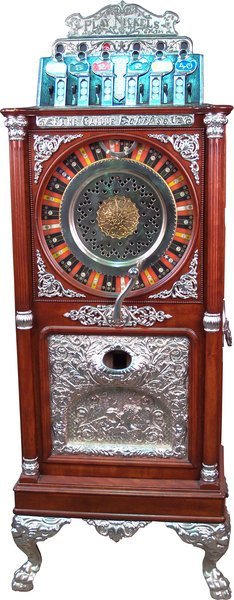 221: 5 cent Caille Eclipse Upright Slot Machine