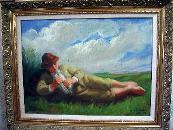 21: Vydai Brenner Nandor - 1900's Oil Painting