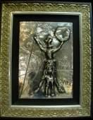 """501: Hand Signed - Dali, """"Don Quixote"""" Bas Relief in Si"""
