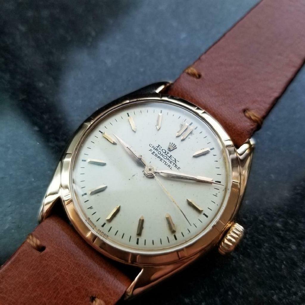 *ROLEX Men's 18K Rolex Perpetual Chronometer 1963 Swiss