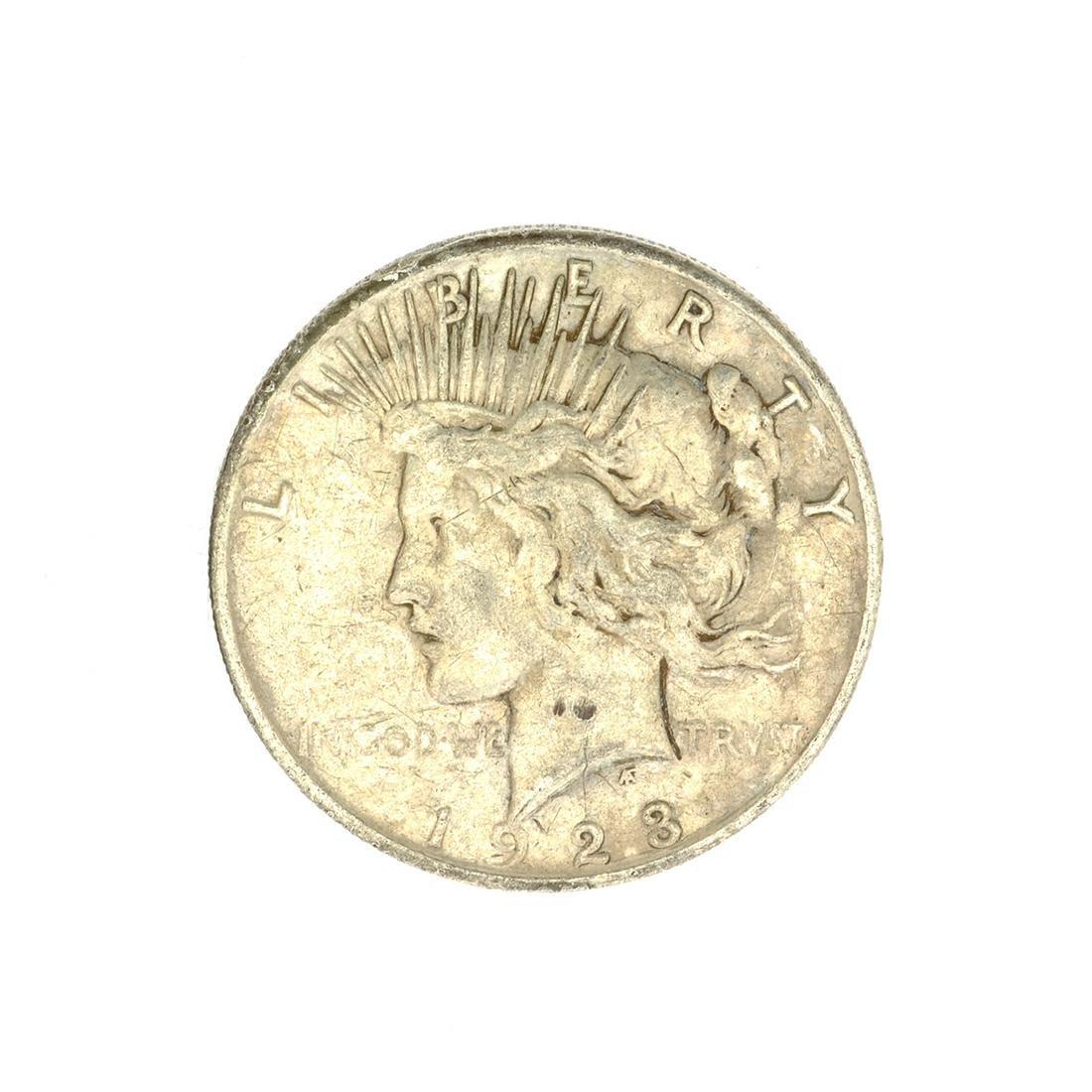 1923 U.S. Peace Type Silver Dollar Coin
