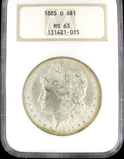 1809: 1885-O US Morgan Silver Dollar Coin - Investment