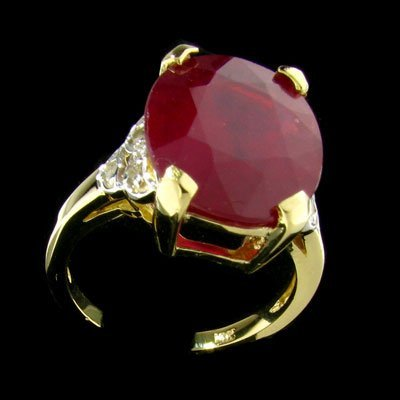 1823: APP: $27.7k 14 kt. Gold, 8.80CT Ruby and Diamond