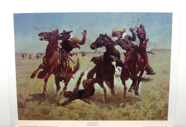 1825: FREDERIC REMINGTON Aiding a Comrade, Print