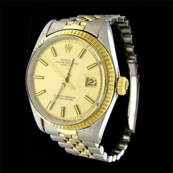 1985: 14 kt. Gold Trim Stainless Steel Rolex Watch