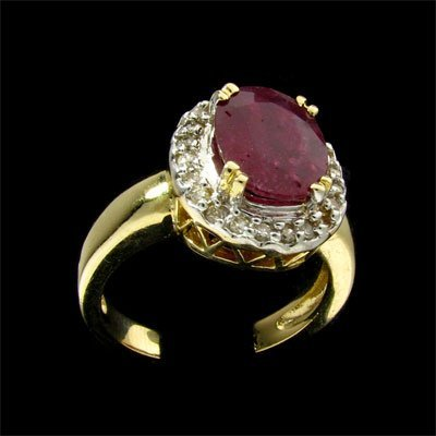 711: APP: 8.9k 14 kt. Yellow/White Gold, 2.26CT Ruby an