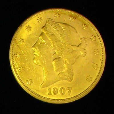 723: 1907 $20 US Coronet Type Gold Coin-Investment Pote