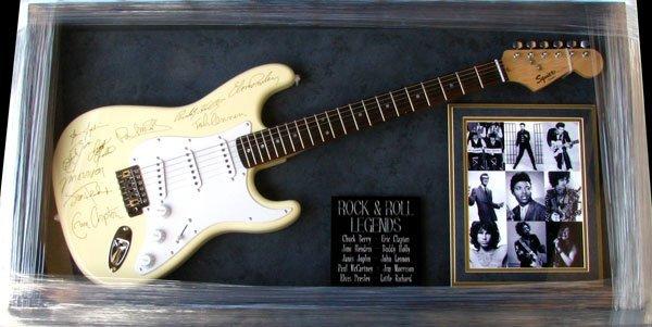 7: Rare Rock & Roll Legends Guitar Facsimile Autographe