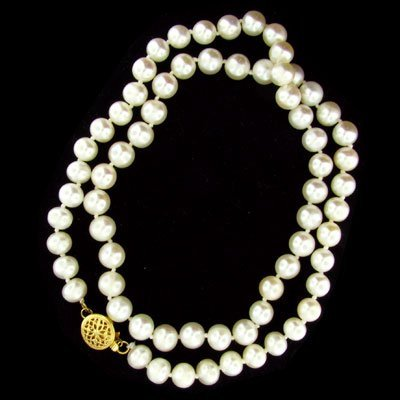 13: 14 kt. Gold, Pearl Necklace, Great Gift Idea!