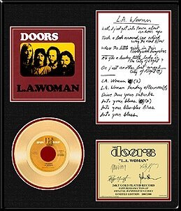 15: THE DOORS ''L.A. Woman'' Gold Record - Collect with