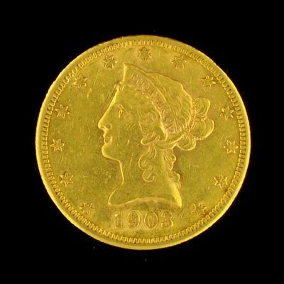 21: 1903 -S $10 US Liberty Head Type Gold Coin - Invest