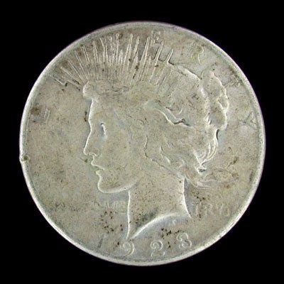 25: 1923-S US Peace Silver Dollar Coin - Investment Pot