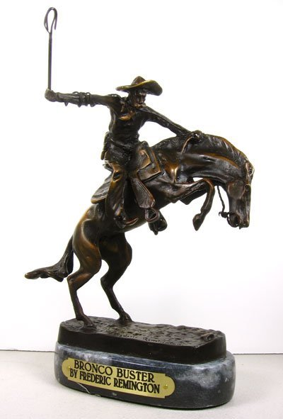 27: Frederic Remington - Bronco Buster Bronze