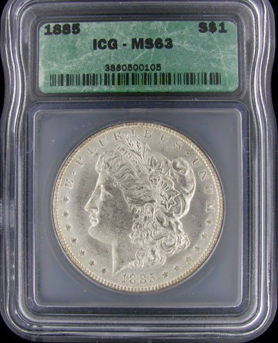 31: 1885 US Morgan Silver Dollar Coin - Investment Pote