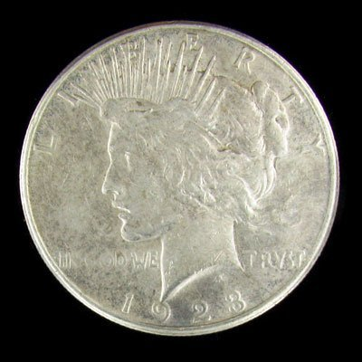 45: 1923-S Peace Type Silver Dollar Coin - Investment P