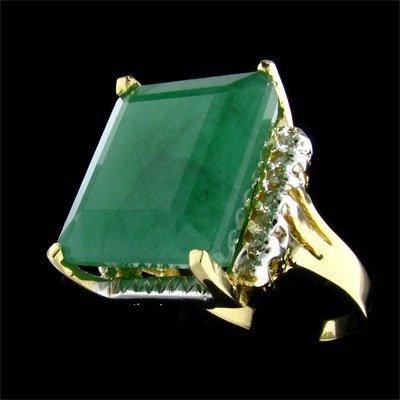 501: APP: $17.4k 14 kt. Gold, 18.20CT Emerald and Diamo