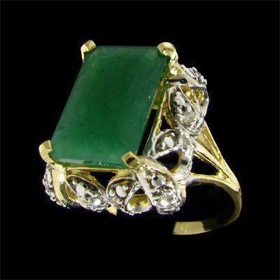 1723: APP: $8.1k 14 kt. Gold, 4.56CT Emerald and Diamon