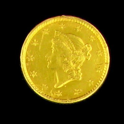 1739: 1853 $1 US Liberty Gold Coin - Investment Potenti