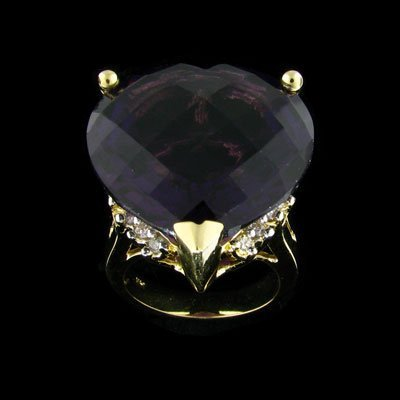 1743: APP: $9.8k 14 kt. Gold, 29.72CT Amethyst and 0.14