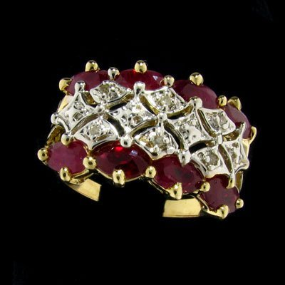 1747: APP: $2.7k 14 kt. Yellow/White Gold, 1.60CT Ruby