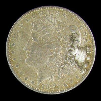 23: 1882-O Morgan Type Silver Dollar Coin - Investment