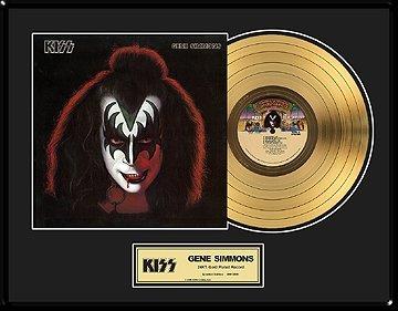 27: KISS ''Gene Simmons Solo Album'' Gold Record - Coll