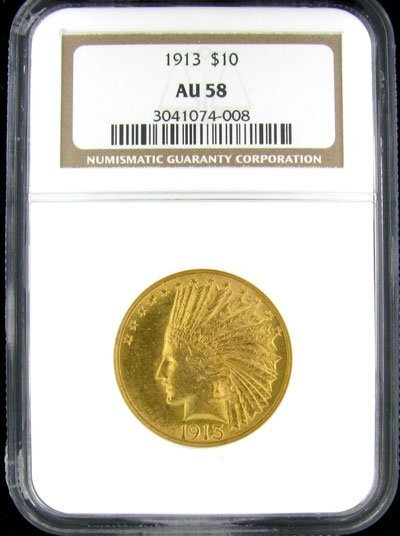 37: 1913 $10 US Indian Type Gold Coin - Investment Pote